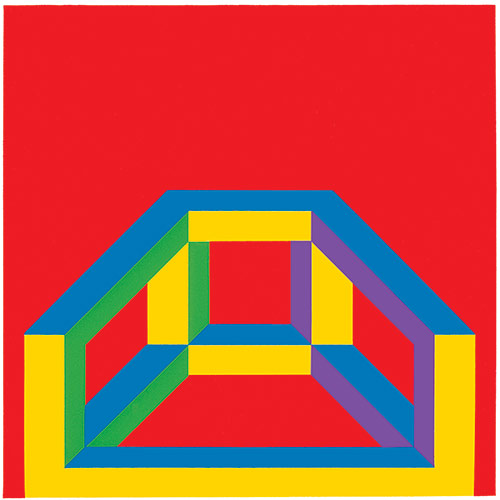 Isometric Figure with Bars of Color, 2004